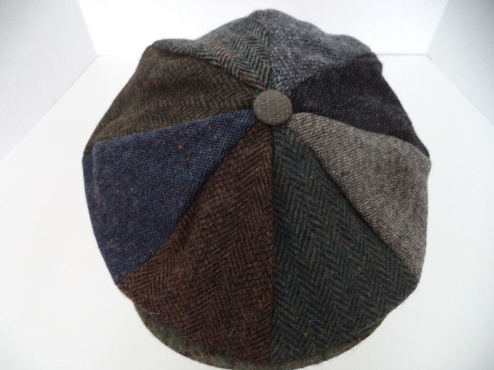 0b07051c Details about Hanna Hat Irish patch work tweed 8 piece newsboy cap Donegal Ireland  wool