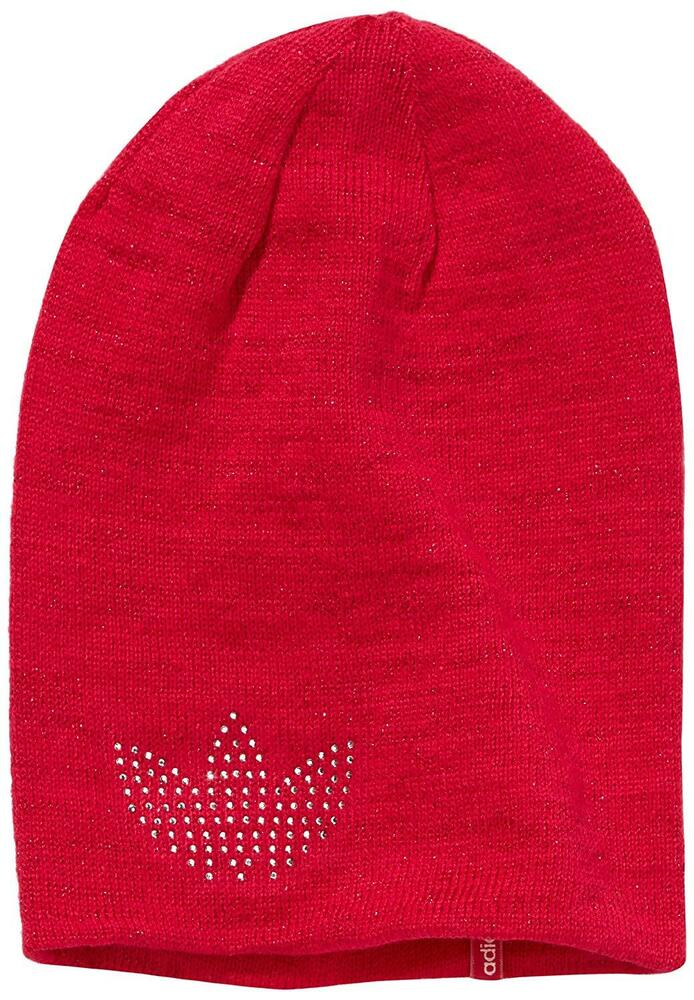 11530ee3 Details about Girls ADIDAS Originals Glam Beanie Hat Kids Knitted Hats gift  Bobble Pink
