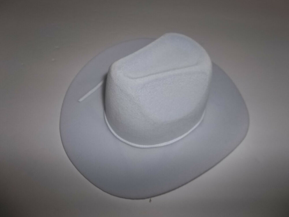 709d7b270 White Flocked Western Hat Accessory made for 18