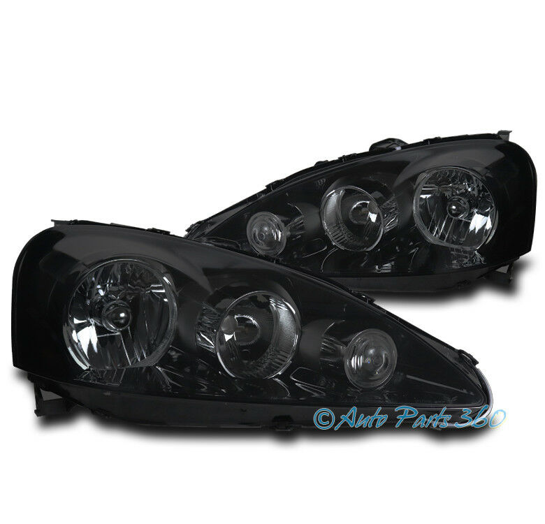 FOR 05-06 ACURA RSX DC5 BASE TYPE-S BLACK/SMOKE LENS