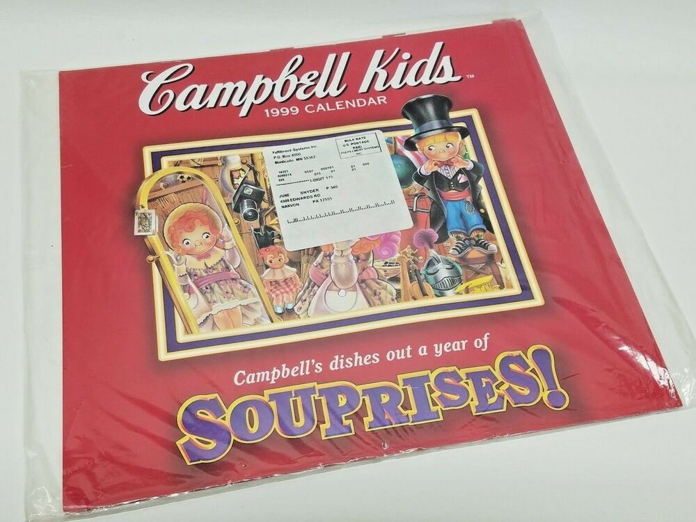 Campbell S Soup 1998 Calendar Campbell S Dishes Out A Year Of