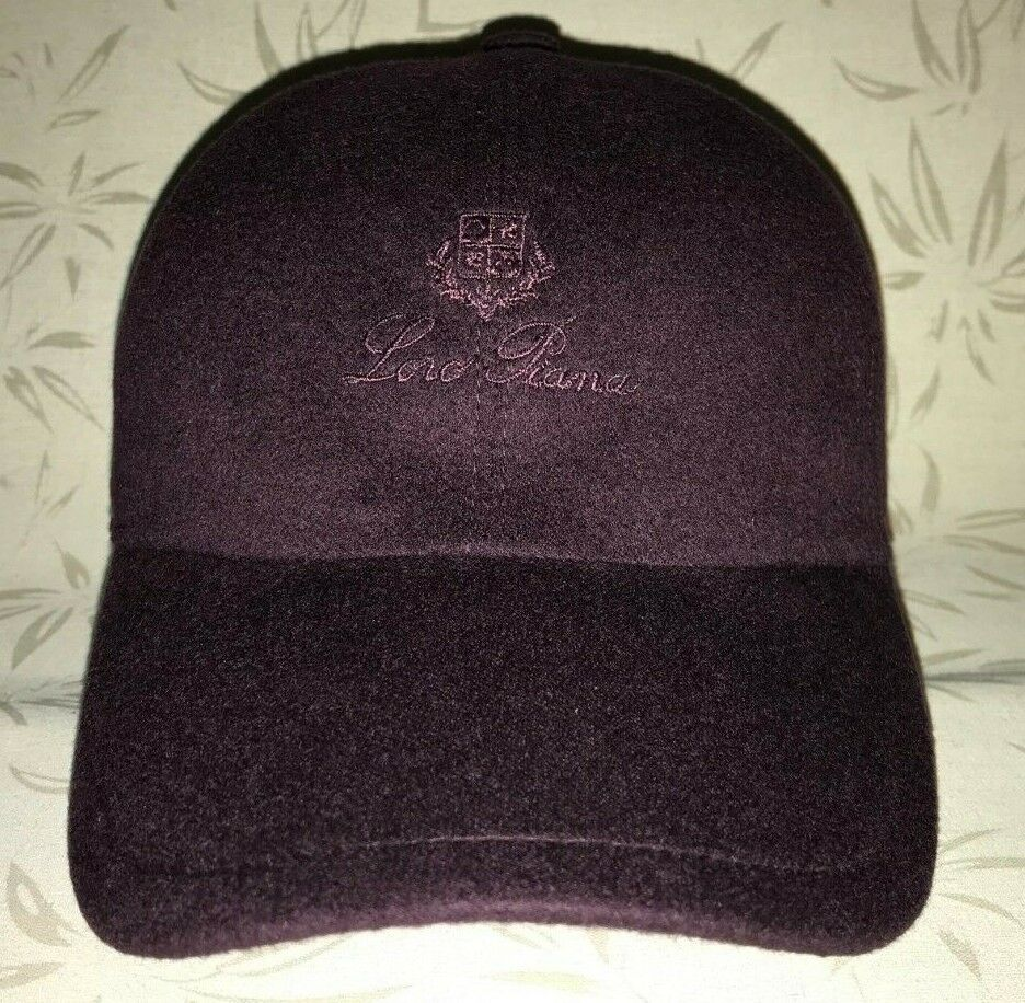 97c0cf30015 Details about Loro Piana Baseball Cap Cashmere Purple Violet Size M Made in  Italy