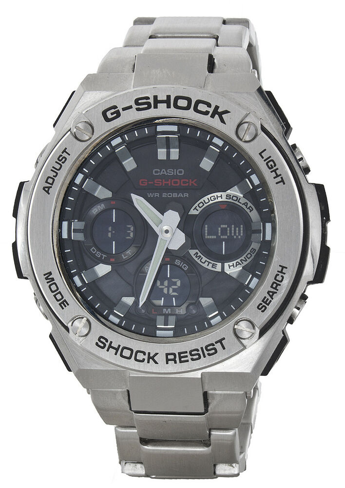 Details about Casio G-Shock NWT G-Steel GST-S100D-1A4 Stainless Steel Watch 327dd3905b32