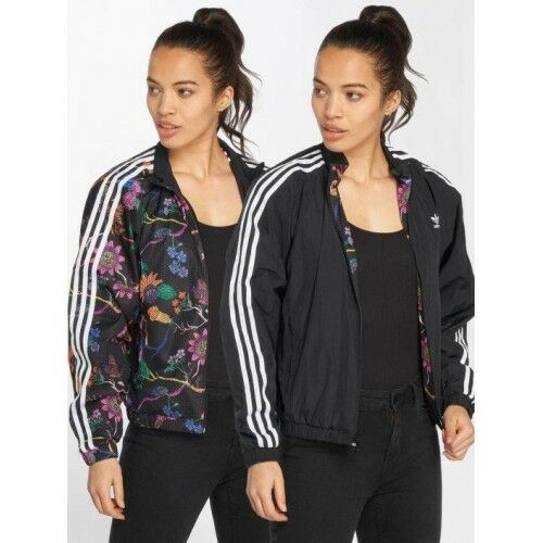 DT8722 Womens ADIDAS OS  REVERSIBLE TRACK FLORAL Jacket RRP 79.95 UK -8-10-12-14