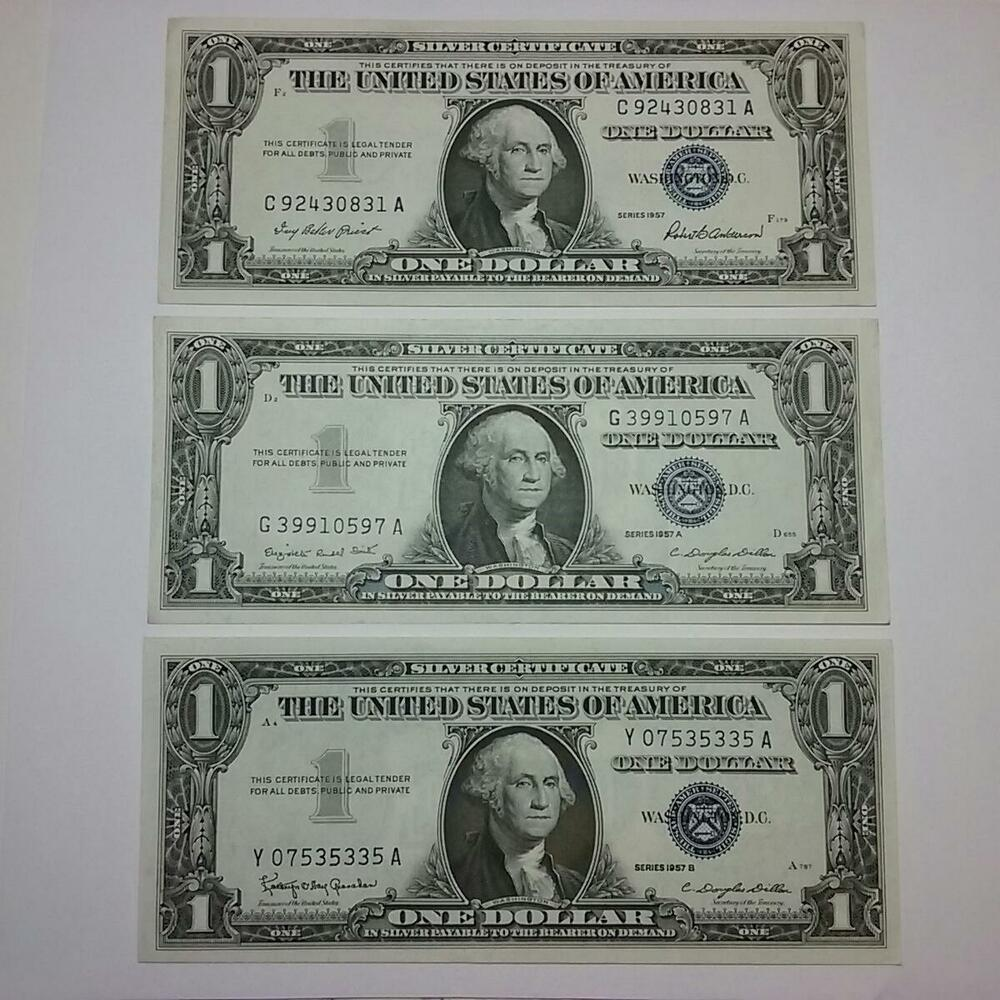 Silver Certificate Dollar Bill Value 1957 Tollebild