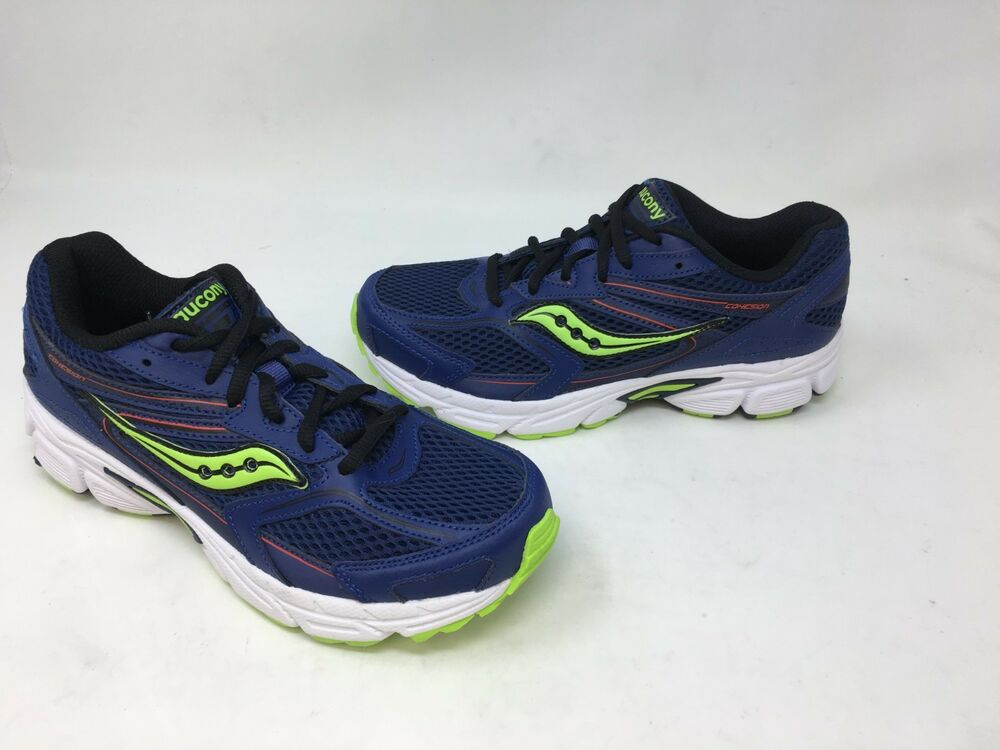 NEW Saucony Youth Boy/'s Athletic Shoes Blue//Red//Neon Green #SY58437 25P2 t