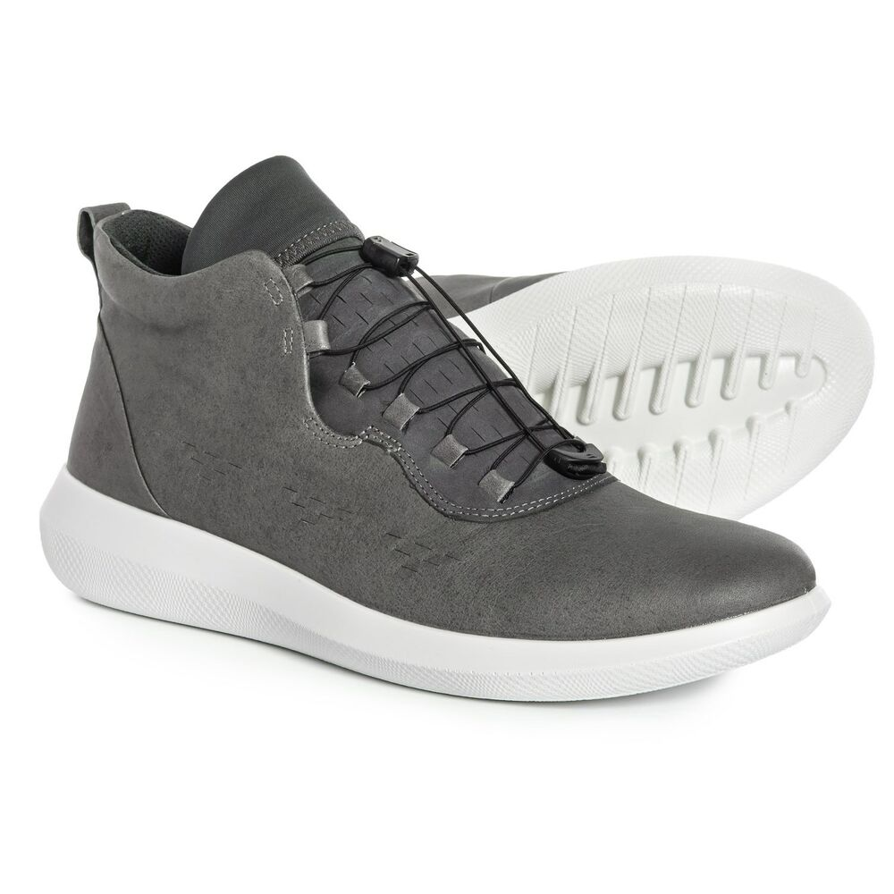 d3f2dce005 Details about New Men`s ECCO Scinapse High Top Casual Sneakers Genuine Yak  Leather 450554