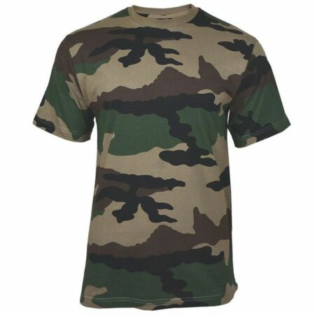 img-Mil-Tec Mens US Army Style T-Shirt Crew Neck CCE Camo