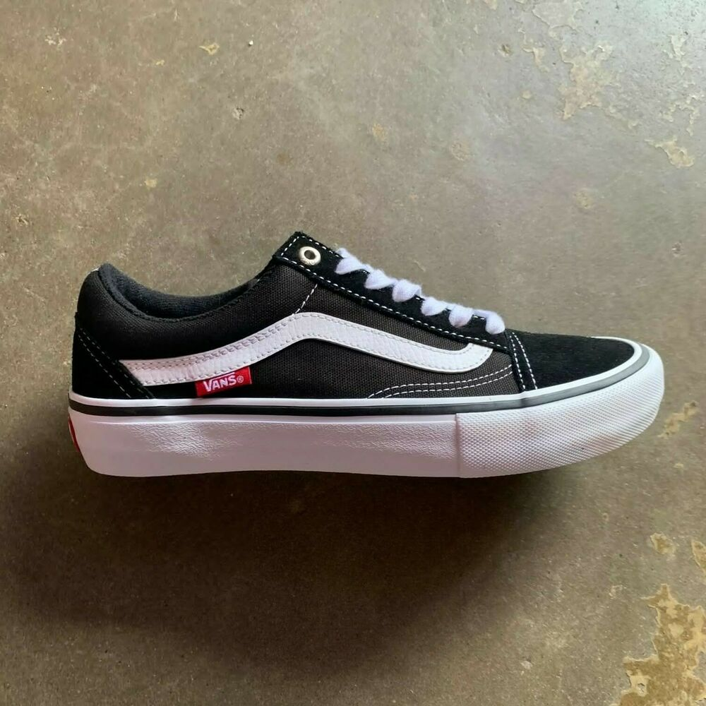 Details about VANS OLD SKOOL PRO BLACK WHITE SIZE 5-12 --FAST SHIPPING-- a6ceb2a51