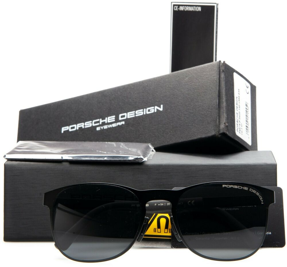 f372b2874a82 Details about NEW PORSCHE DESIGN P 8578 F CAL 3 MATTE BLACK RUBBERIZED  GRAY  LENS SUNGLASSES