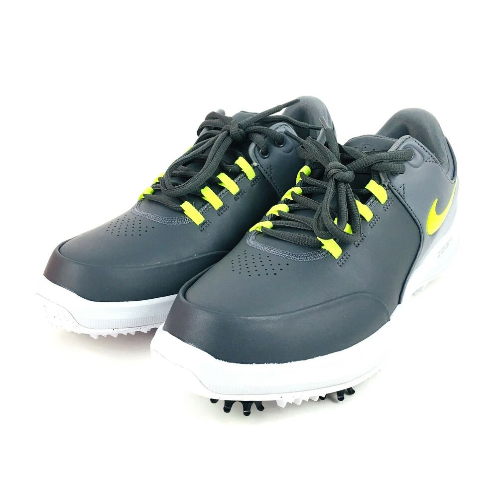 93e939db4a058 Details about Nike Air Zoom Accurate Golf Shoes Cleats Dark Grey Volt Green  Mens Size 8.5