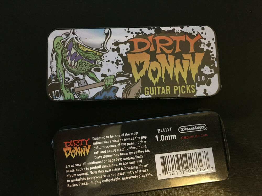 6 Pack of Collectible Dunlop Dirty Donny Punk Skateboard Guitar Picks