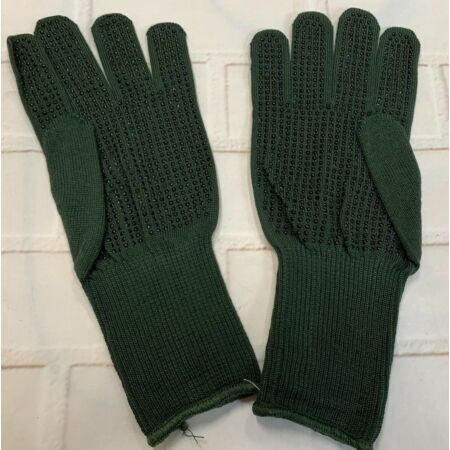 img-ARAMID OLIVE GREEN COMBAT GLOVES - Rubber palms , Sizes , British Army NEW