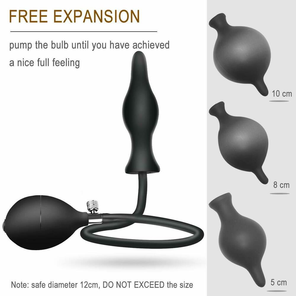 Details about Silicone Expand Inflatable Anal Plug Waterproof Anal Butt Plug  Sex Toys Unisex
