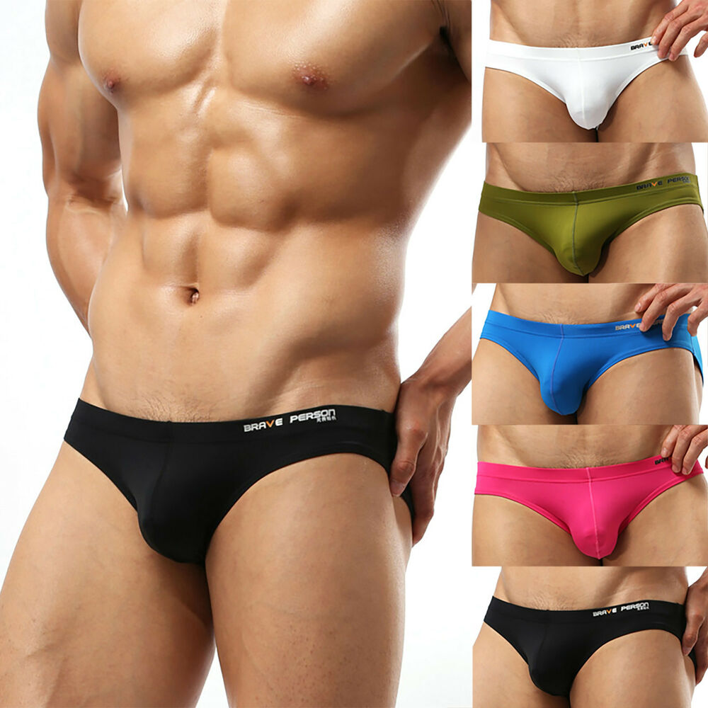 f7ce3f6829 Details about Mens Sexy Low Rise Brief Short Underwear Bikini Swimming  Beach Swimwear G-string