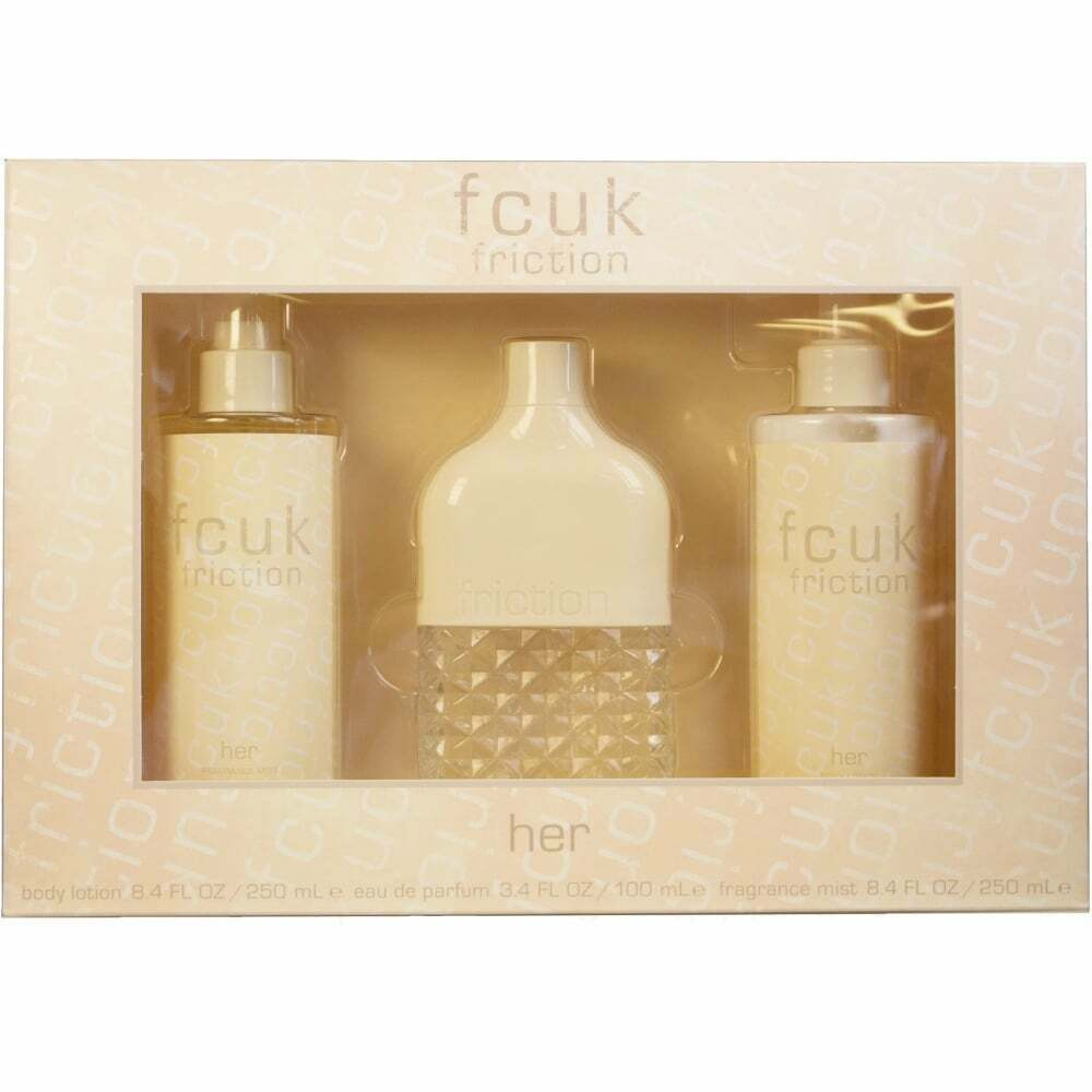 6fa5fb3b19e Details about Fcuk Friction Gift Set Her 100ml 3 Piece French Connection  Fragrance Body Lotion