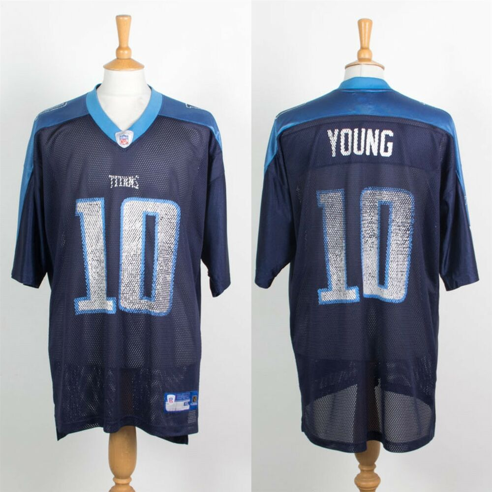 416eaf2c6 Details about NFL TENNESSEE TITANS JERSEY AMERICAN FOOTBALL SHIRT  10 YOUNG  REEBOK XL
