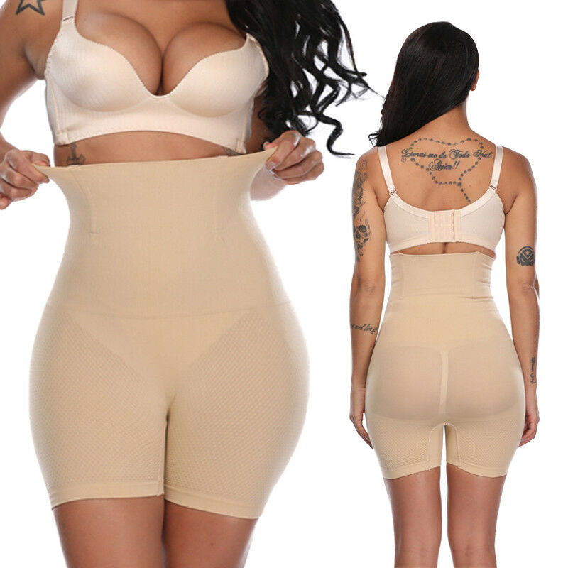 b5ec9fe6f50e Details about Womens Shapewear Bodysuit High Waist Tummy Control with Butt  Compression Shorts