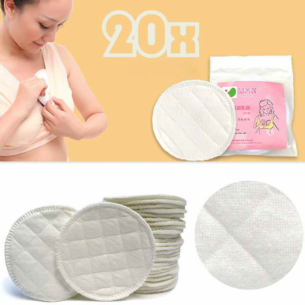 Details about Bamboo Reusable Breast Pad Nursing Washable Organic Plain Washable  Pad 20x E99