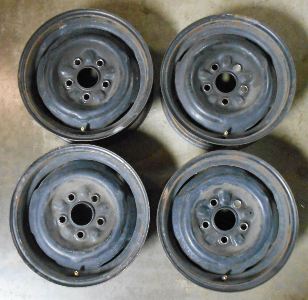 Details about 1964 1965 1966 1967 ford mustang falcon fairlane cougar orig 14x5 steel wheels