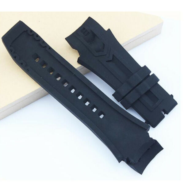 26*34mm Black Silicone Rubber Watch Strap Band For INVICTA Watch Waterproof