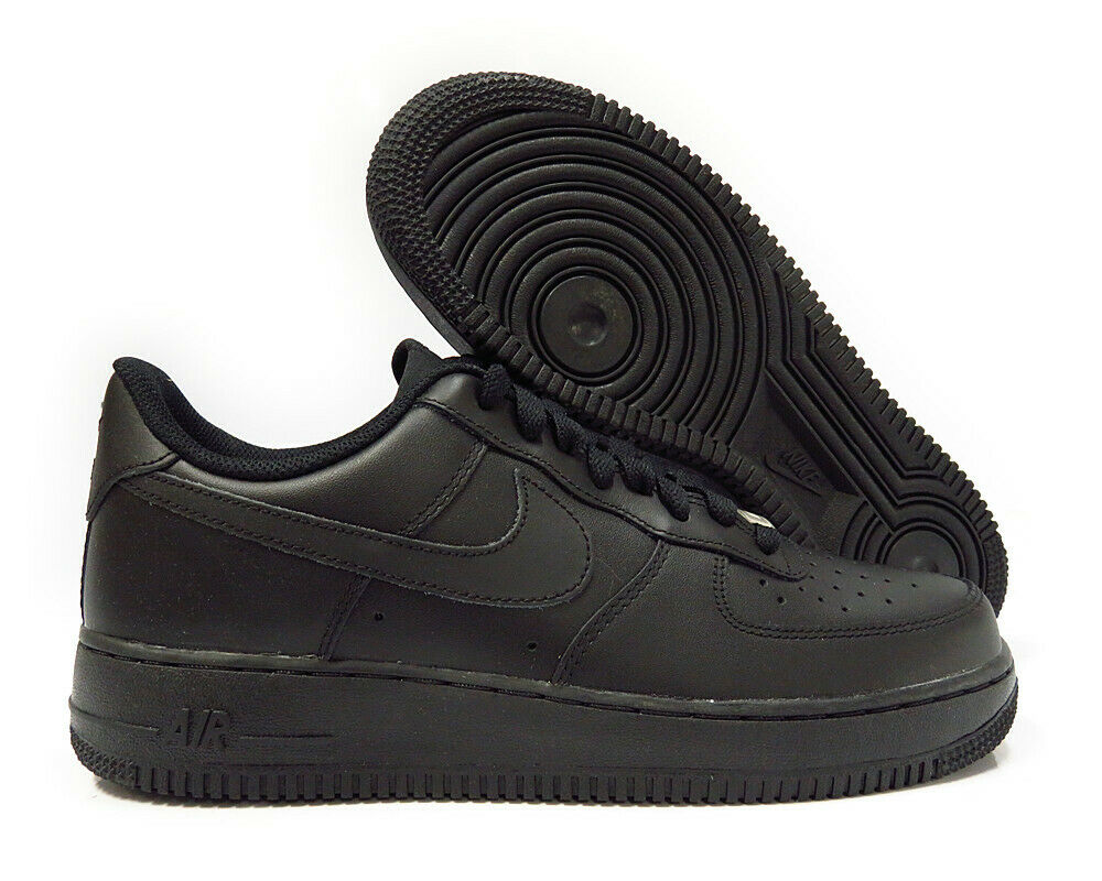 finest selection b69fc 87e38 Details about 315122-001 Nike Air Force 1  07 (Black   Black) Men Sneakers