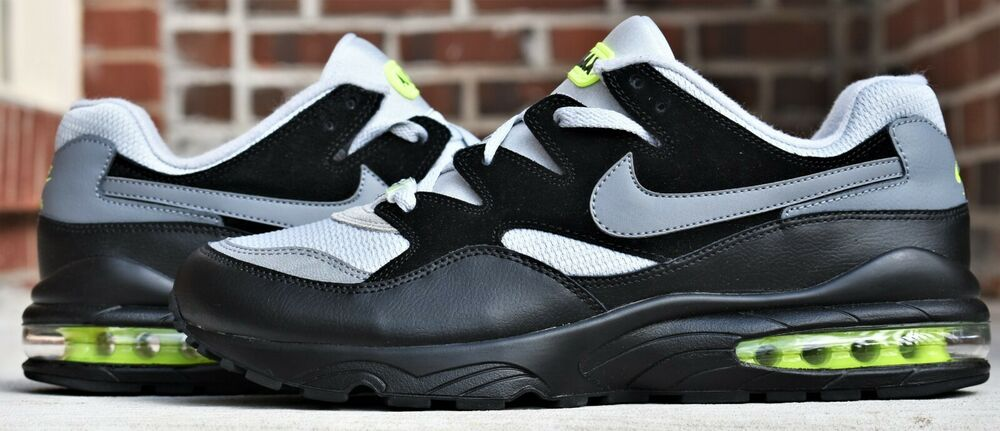 7757f3f4d2 Details about NEW NIKE AIR MAX 94 MEN'S AIRMAX SHOES WOLF COOL GREY BLACK  VOLT SNEAKERS