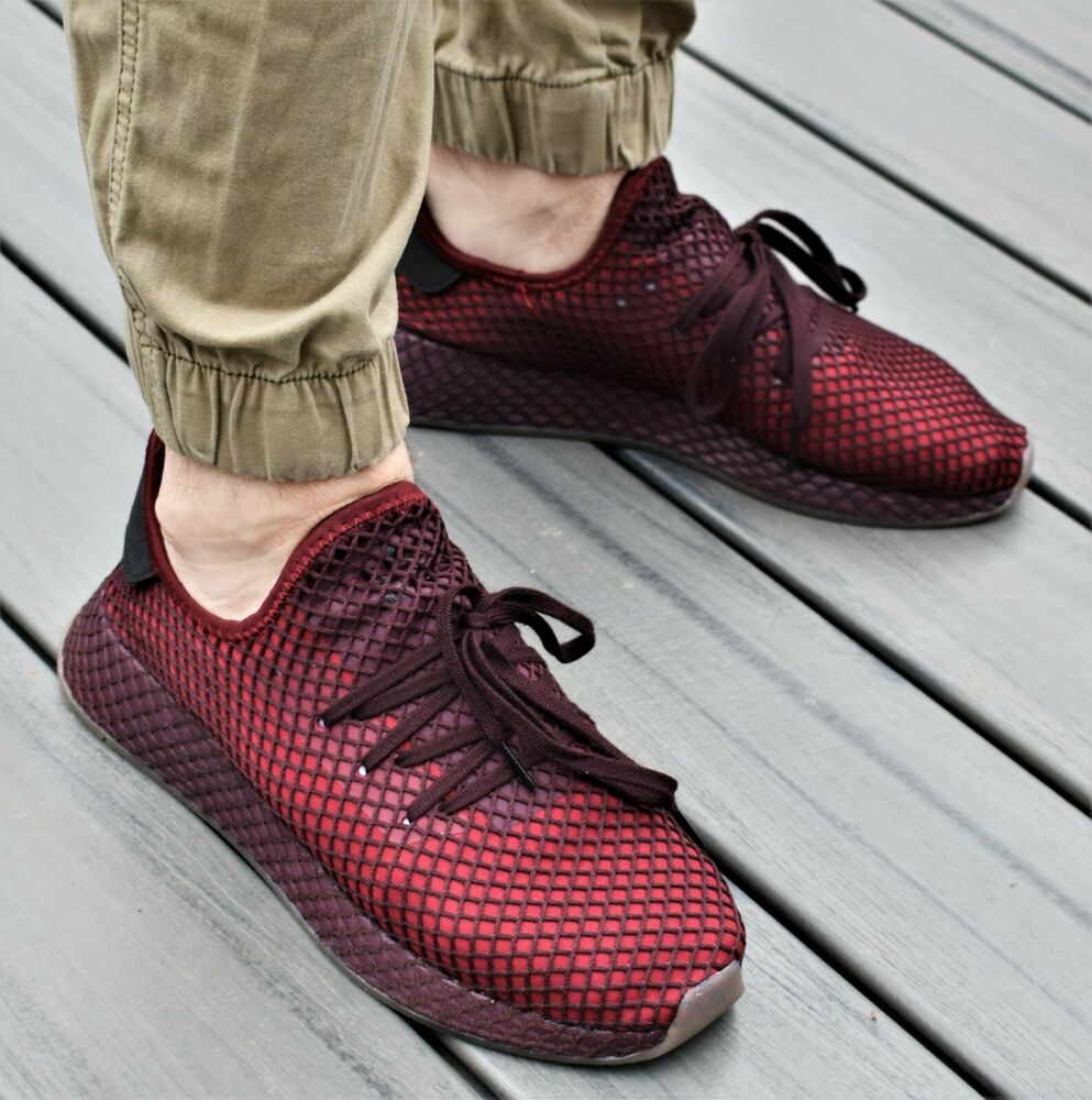 the latest e09b7 f1932 Details about ADIDAS DEERUPT RUNNER - New Mens Lifestyle Sneakers  Collegiate Burgundy Shoes