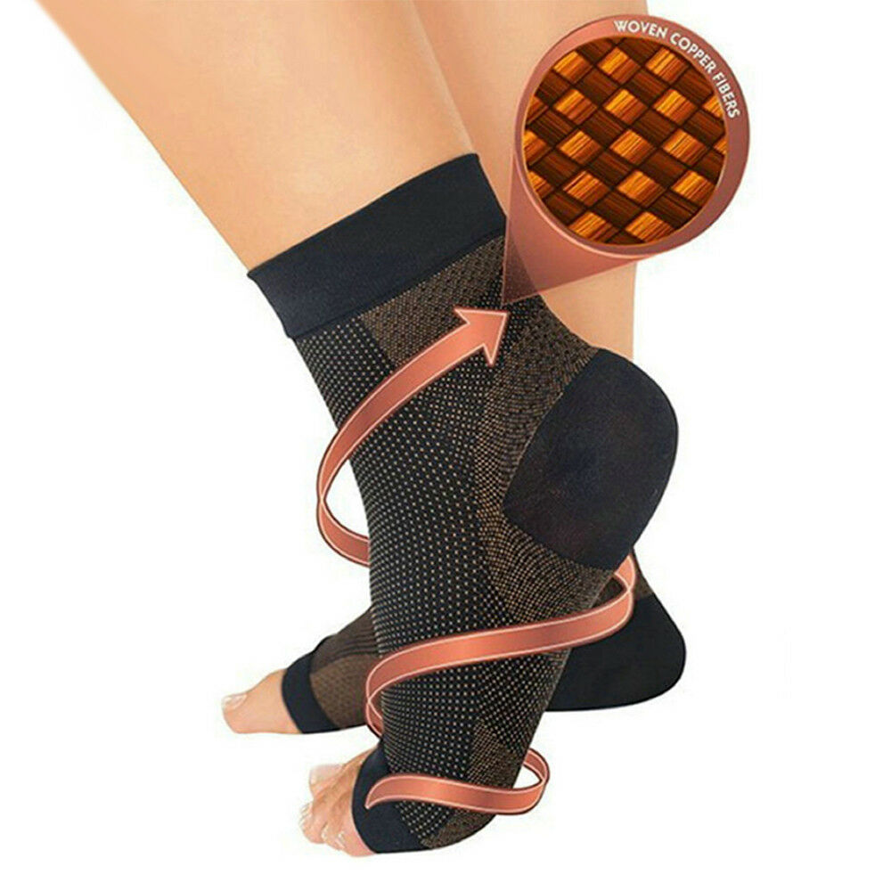 7e34b70365 Details about Copper Medical Ankle Support Foot Brace Compression Sleeve  Ankle Sock Grm Sports