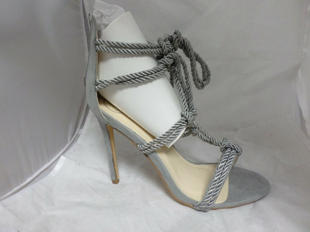 de52cbe90797 Silk Rope Knot Gladiator Sandals Grey RRP £40 UK 6 EU 39 JS24 26 SALEs