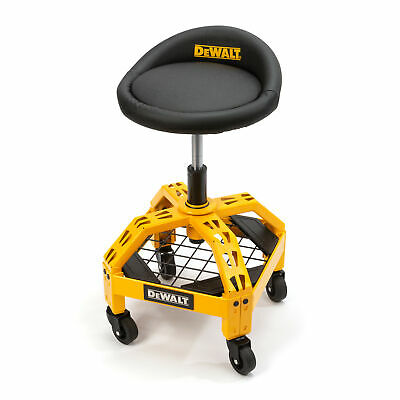Dewalt Adjustable Shop Garage Stool with Rolling Casters DXSTAH025