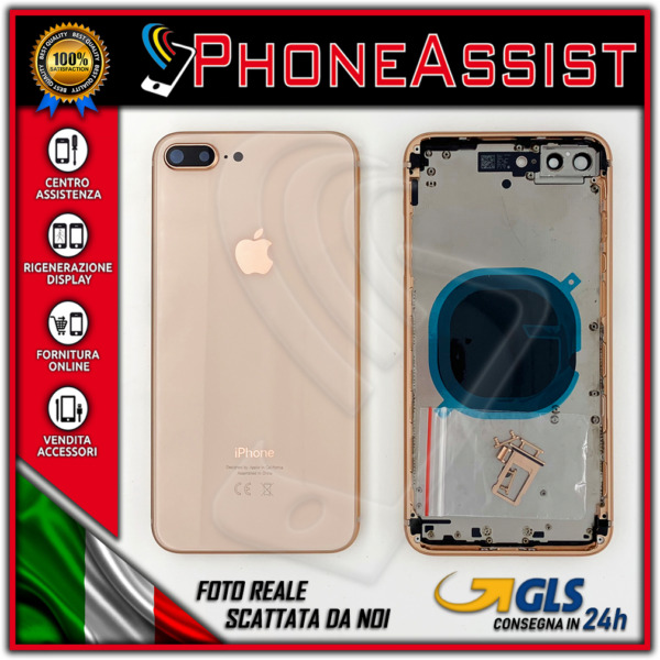 TELAIO SCOCCA POSTERIORE iPhone 8 Plus BACK HOUSING Oro (Gold)