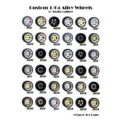 Kyпить 1/64 Scale Alloy Wheels with Disc Brakes - D002-D028 - Diecast Rubber Tires на еВаy.соm