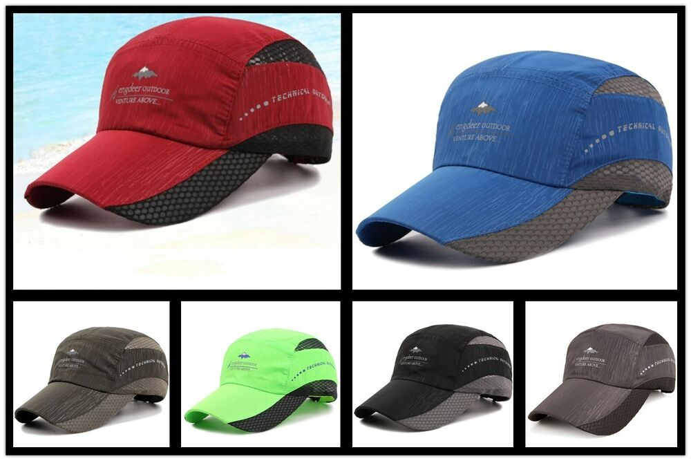 3dfff58e569292 Details about Outdoor Sports Quick-dry Baseball Cap Men's Casual Hiking  Fishing Snapback