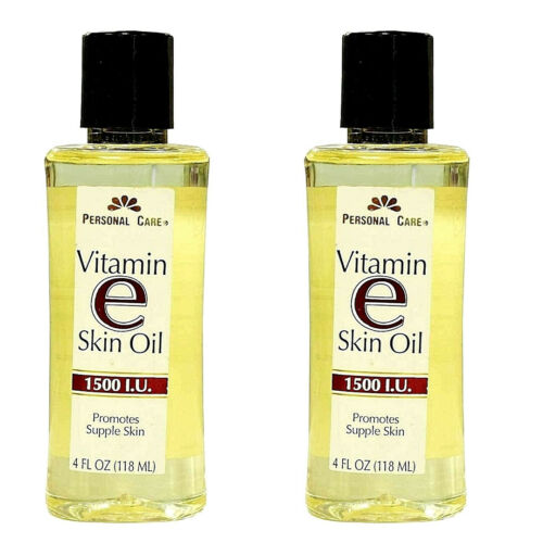 2x Personal Care Vitamin E Skin Oil 1500 I.U. Soften & Moisturize Skin 4 oz