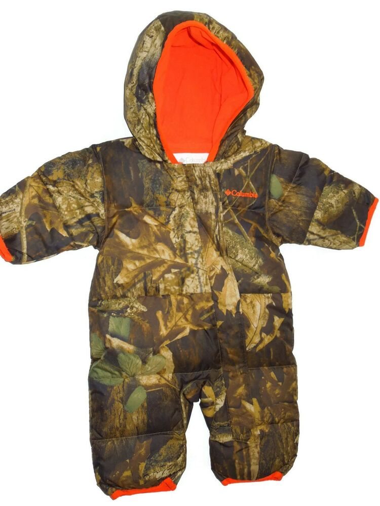 ec78692e3 Details about Columbia baby boys camo Snuggly bunny bunting Snowsuit 3 - 6  month retail $95