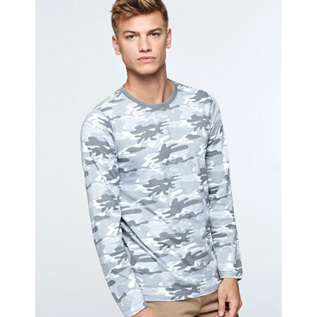 img-Men's T-Shirt Long Sleeve in Camouflage Design Crew Neck COTTON S - XXL