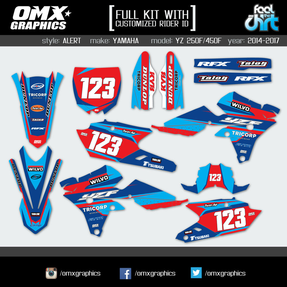 Details about 1992 2019 full yamaha dt tt xtz xt 125 600 mx graphics stickers decals kit al