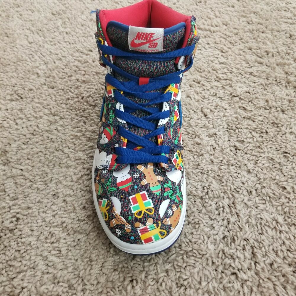 various colors fb4d6 9b456 Details about Nike SB Dunk High TRD QS Ugly Christmas Sweater SB Concepts  881758 446 Mens 10