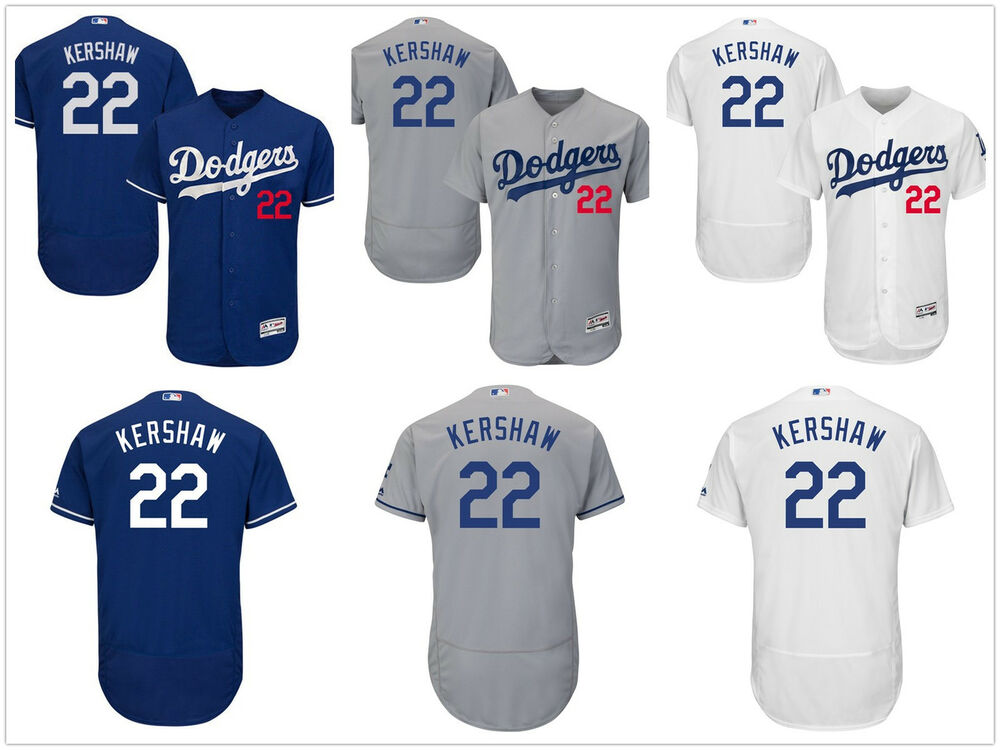 aa69332ae Details about Men s Los Angeles Dodgers  22 Clayton Kershaw Flex Base Jersey  Pick Color Size
