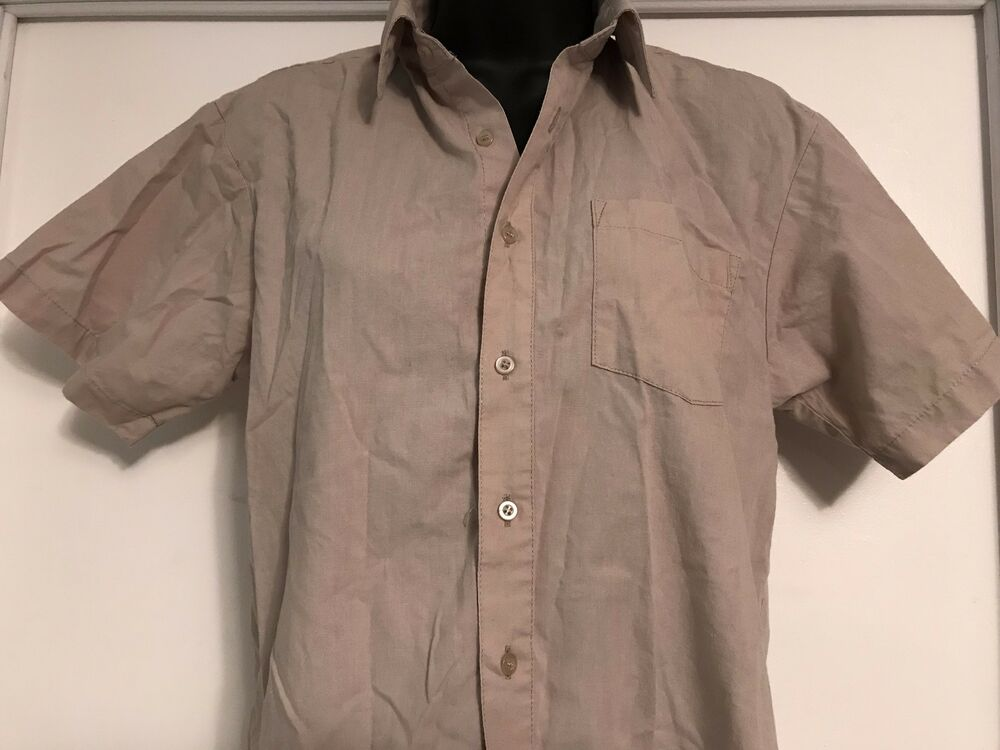 672e932c Details about MEN'S SHIRT TAN ENRICO ROSSINI SIZE 16