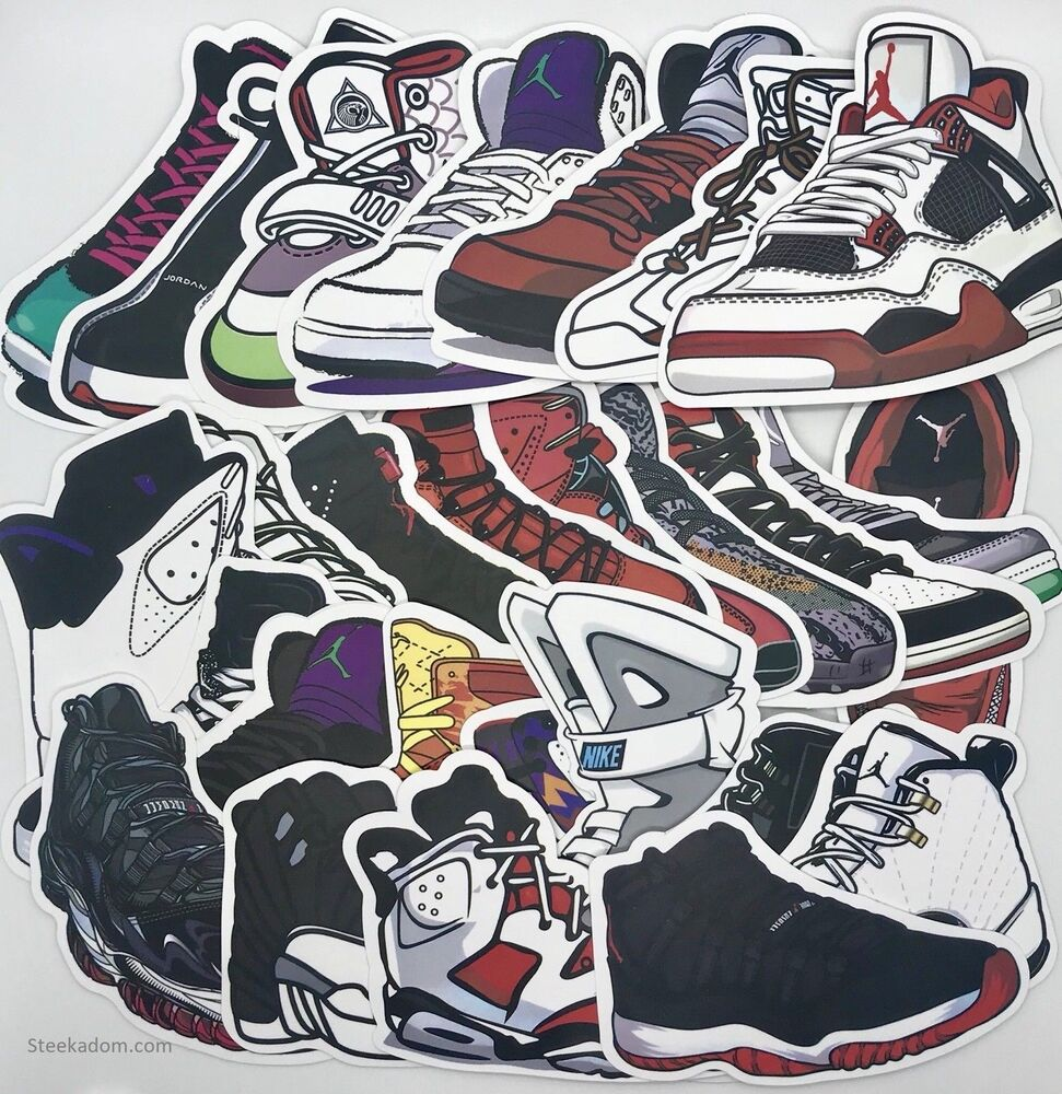 Jordan stickers retro shoes nike air max yeezy mag custom animated style