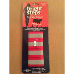 Bright Steps Reflective Leg Bands for Pet Dogs Size Medium 45-80lbs 20-30kg Red