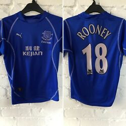 e605c5f50 Youth age 8-10 vintage everton 2002 2003 rooney 18 home shirt jersey Puma w