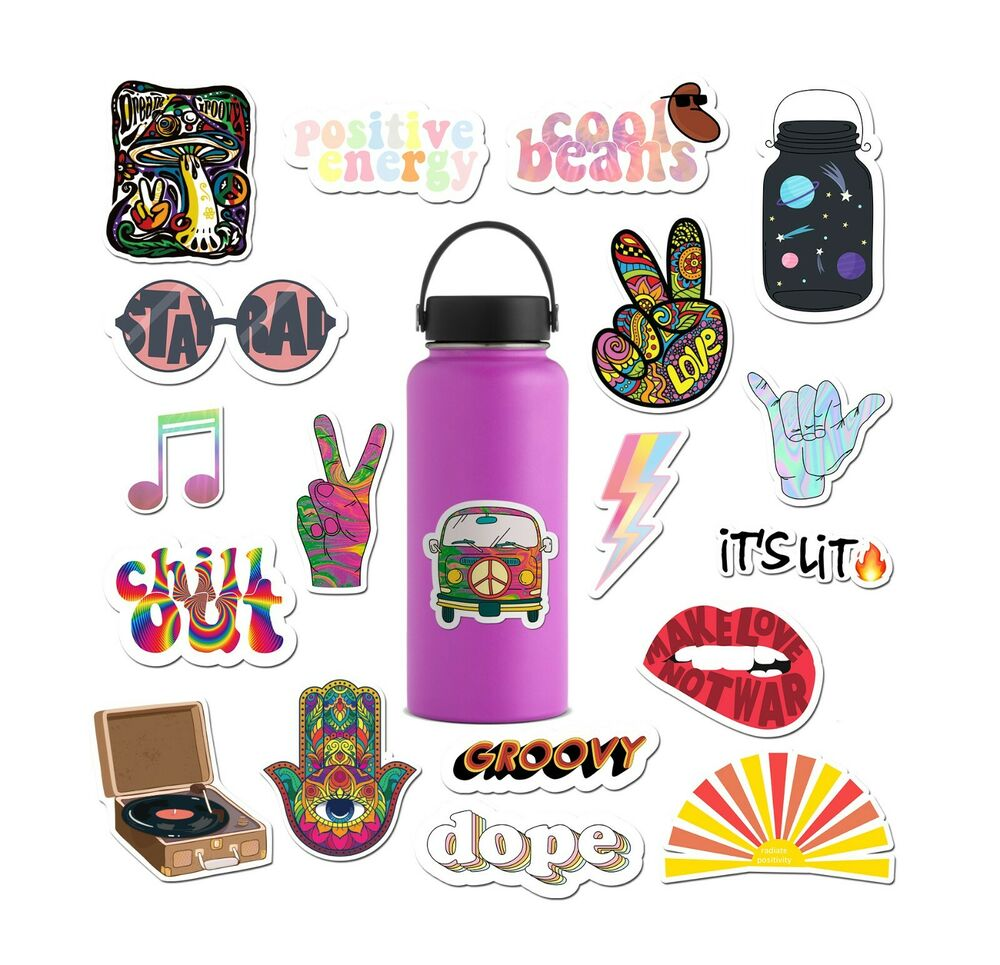 Details about 14 pack groovy stickers for water bottles hydro flask by ripdesigns