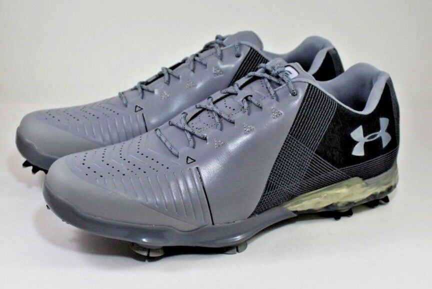 89b208bb13255 Details about Under Armour Spieth 2 Golf Shoes Spikes Gore-Tex Gray  3000165-100 Size 9.5