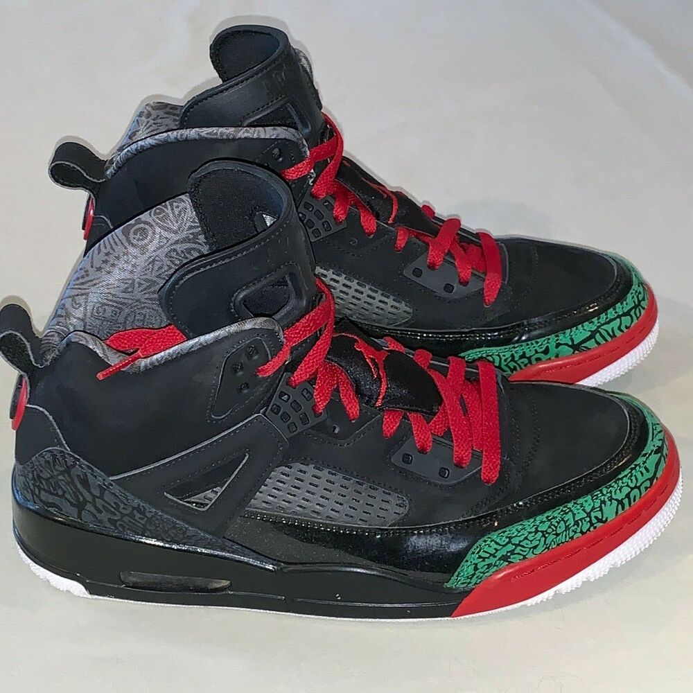 e904b40c868714 Details about Mens Size 12 Jordan Spizike Basketball Shoes Black   Red    Green