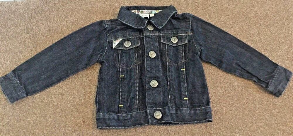8c26c607a Details about Ted Baker Blue Denim Jacket 6-9 Months Summer Holiday Smart  Button Up B10