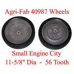 Set of 2 Agri-Fab 40987 Wheels Craftsman Tow Behind Lawn and Leaf Sweeper Tire