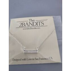 The2bandits Athens Nexklace In Silver New